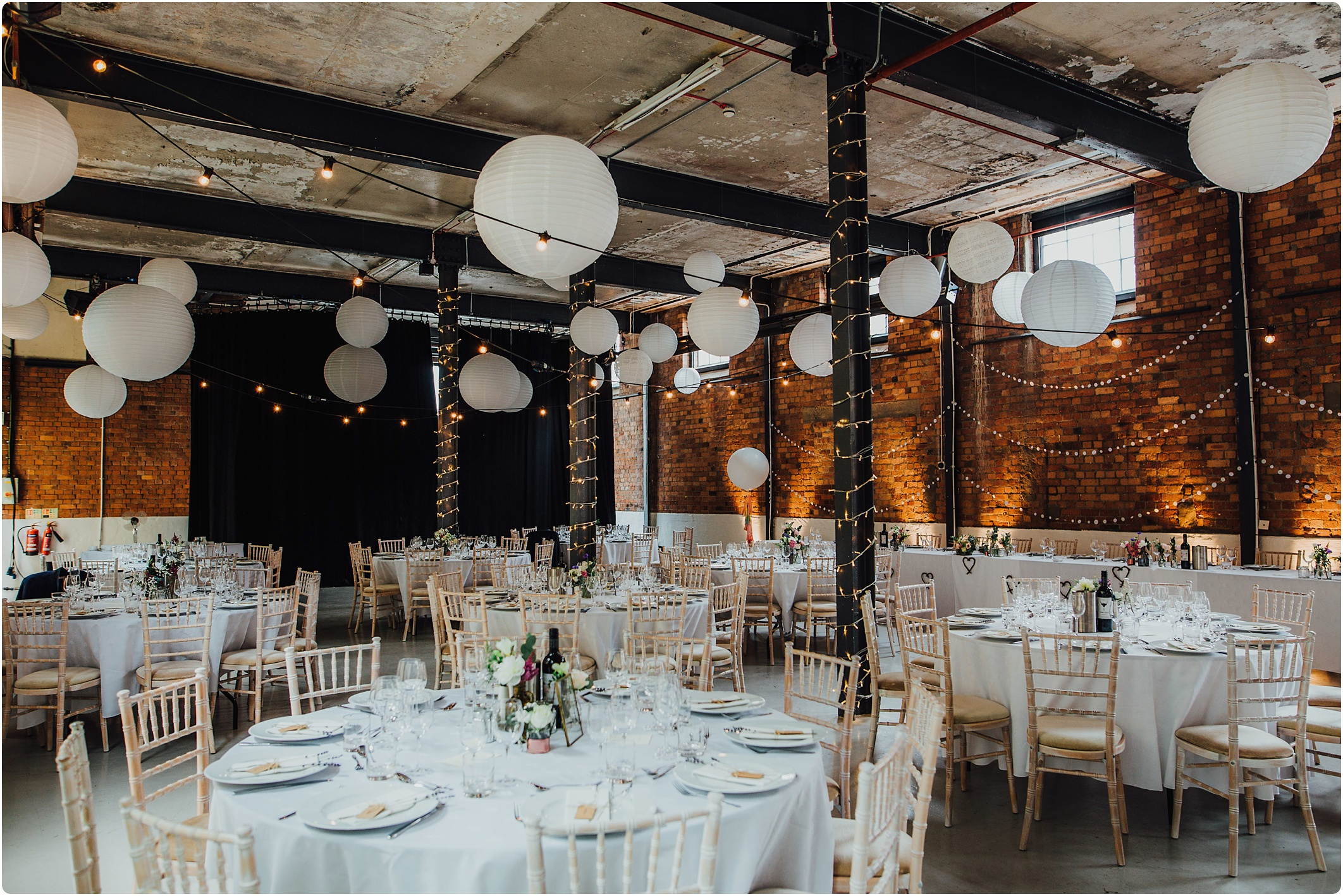Room set up at The Paintworks Wedding