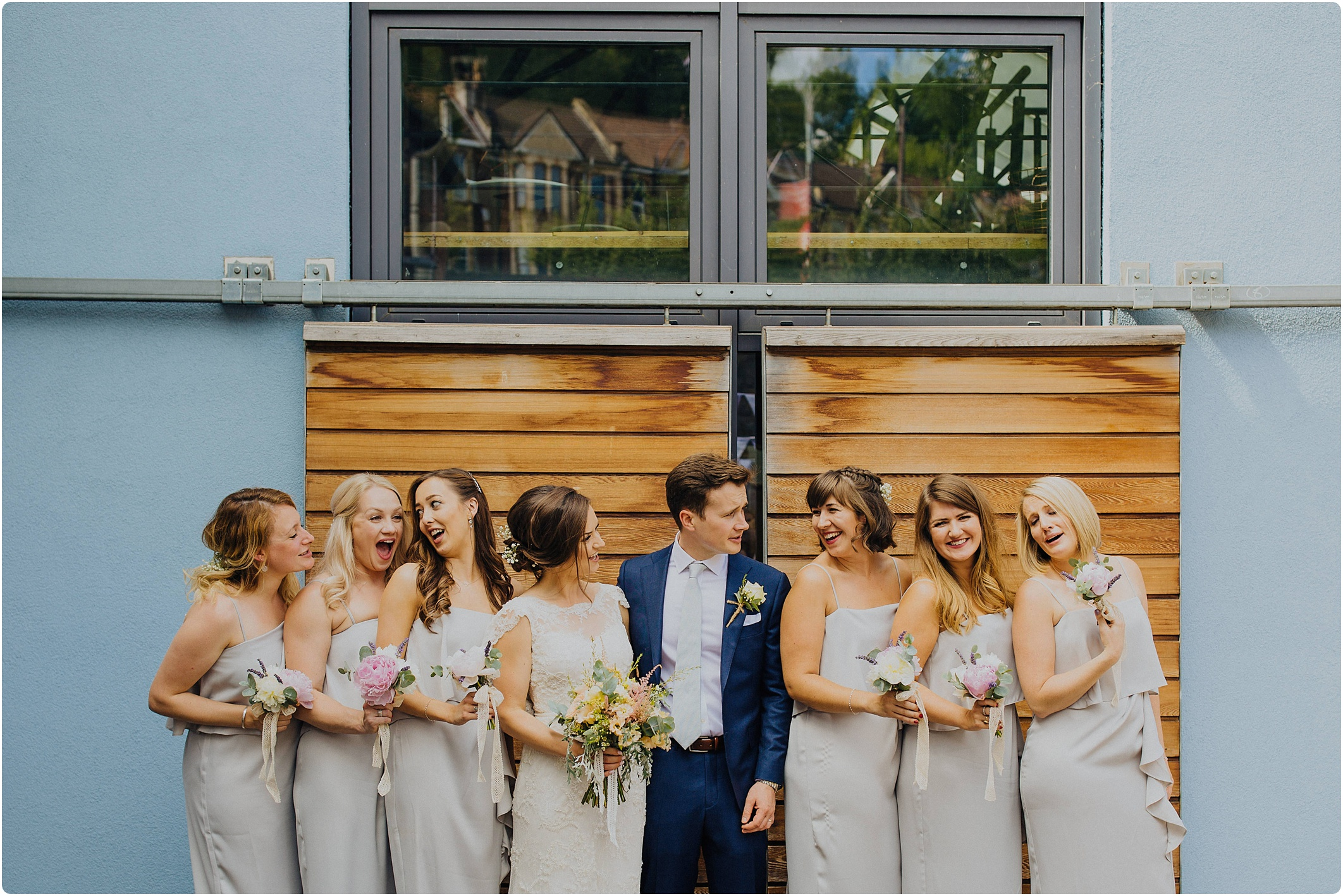 bridal party at The Paintworks Wedding