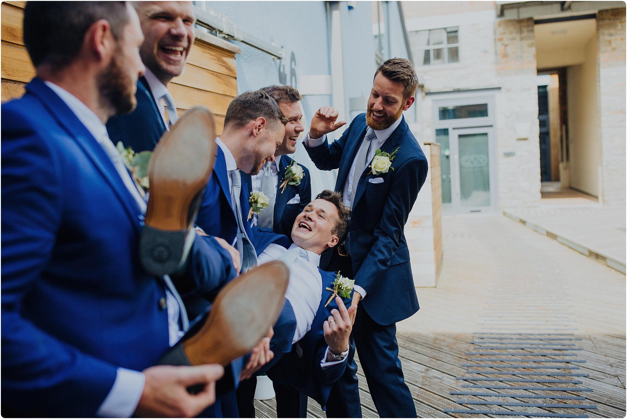 groomsmen at The Paintworks Wedding