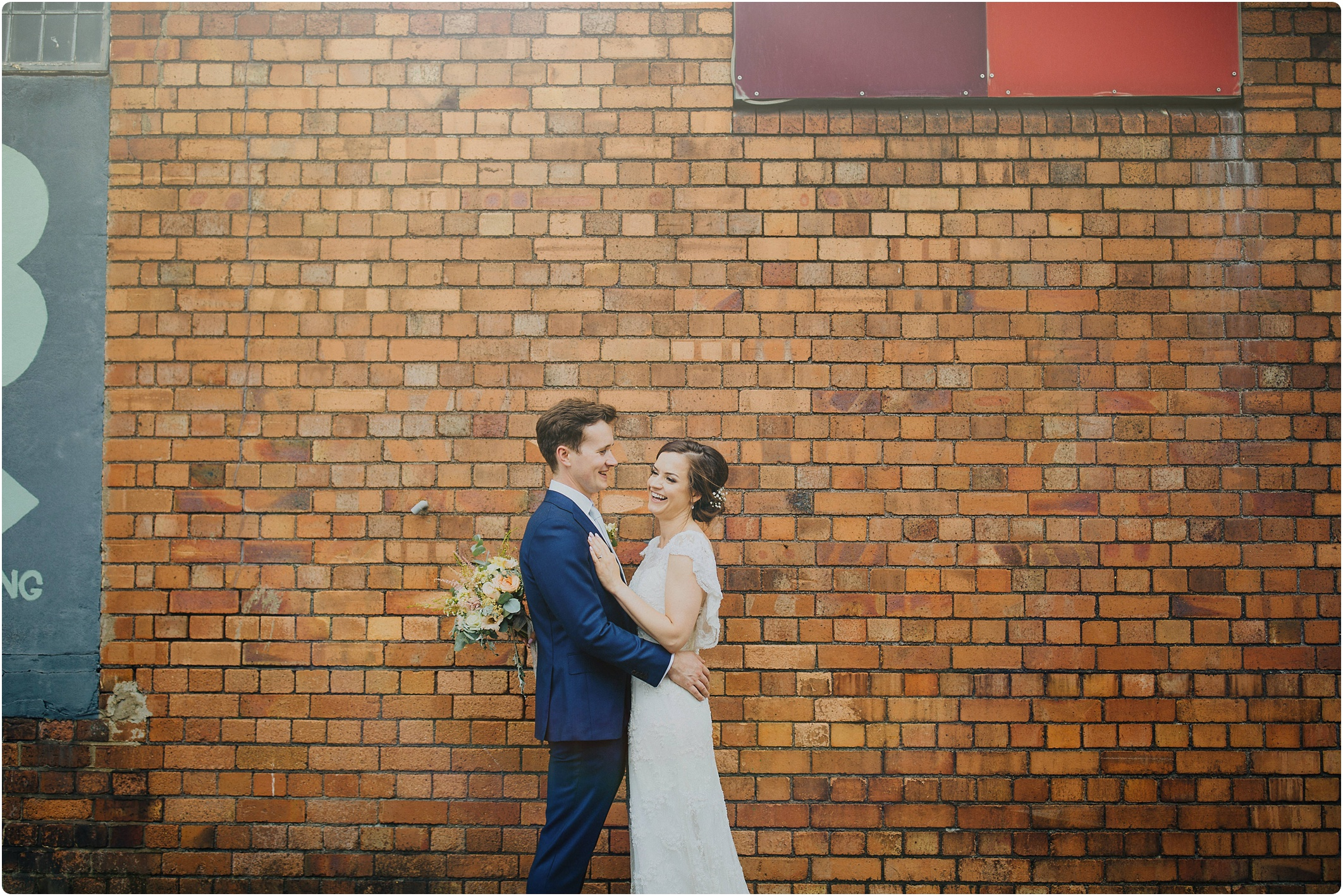couple shots outside at The Paintworks Wedding