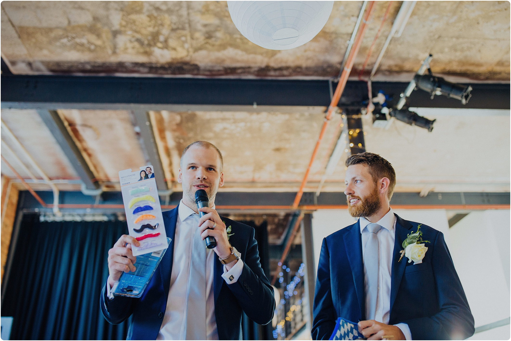 ushers speech at The Paintworks Wedding
