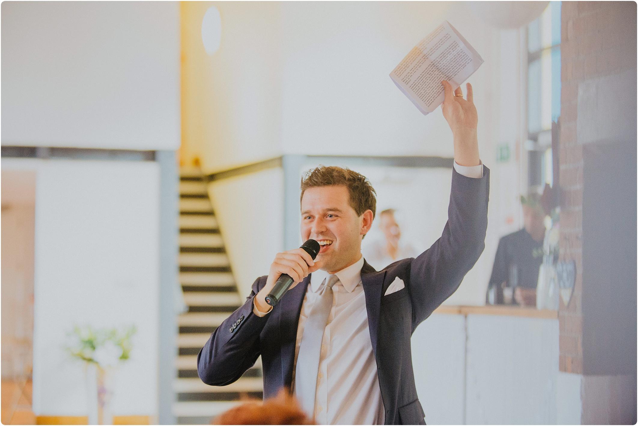 best mans speech The Paintworks Wedding