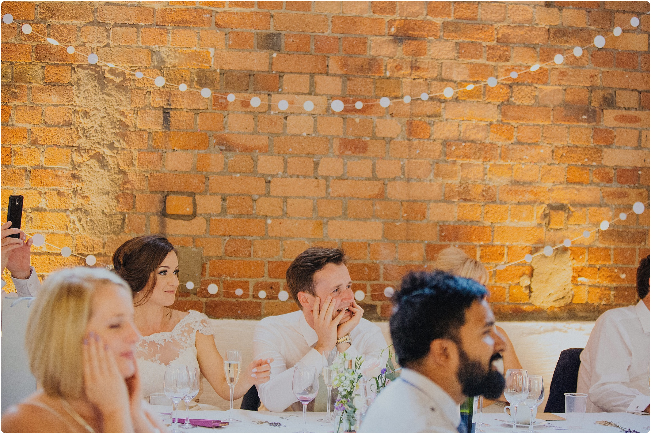 grooms reactions at The Paintworks Wedding