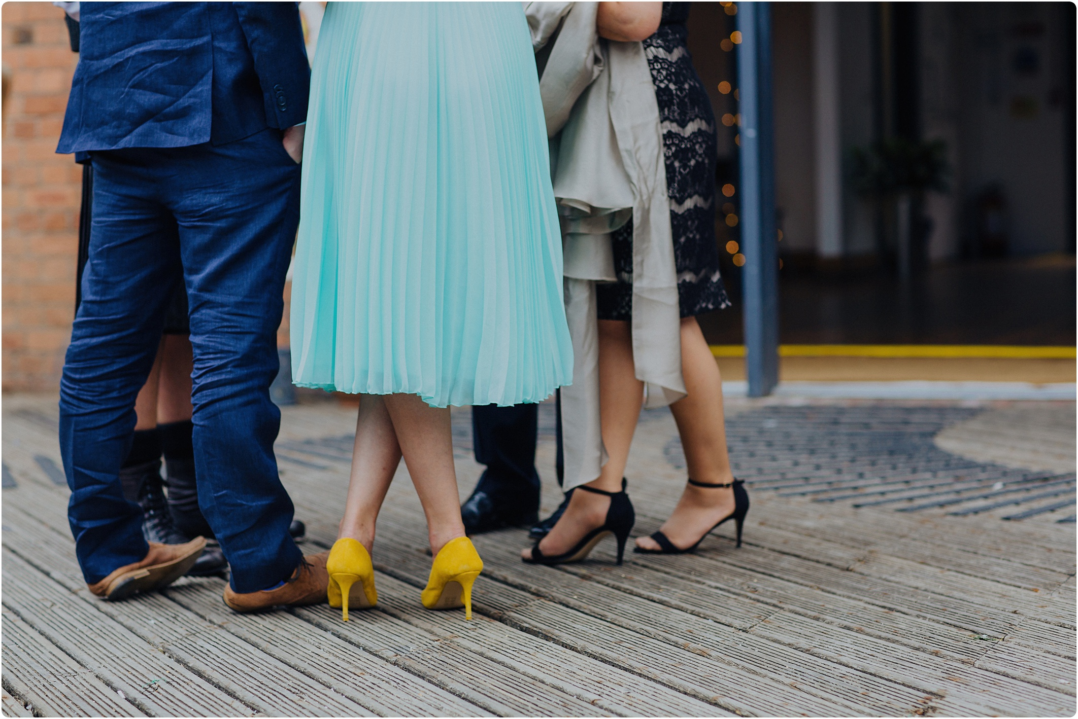 funky shoes at The Paintworks Wedding
