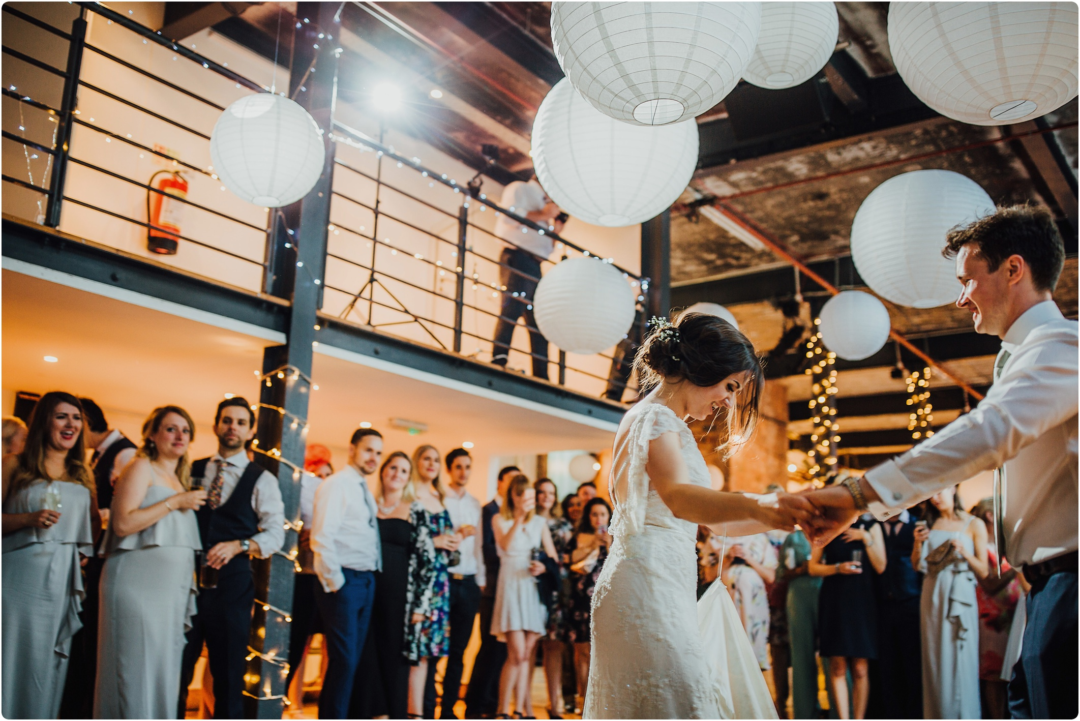 first dance at a wedding at The Paintworks