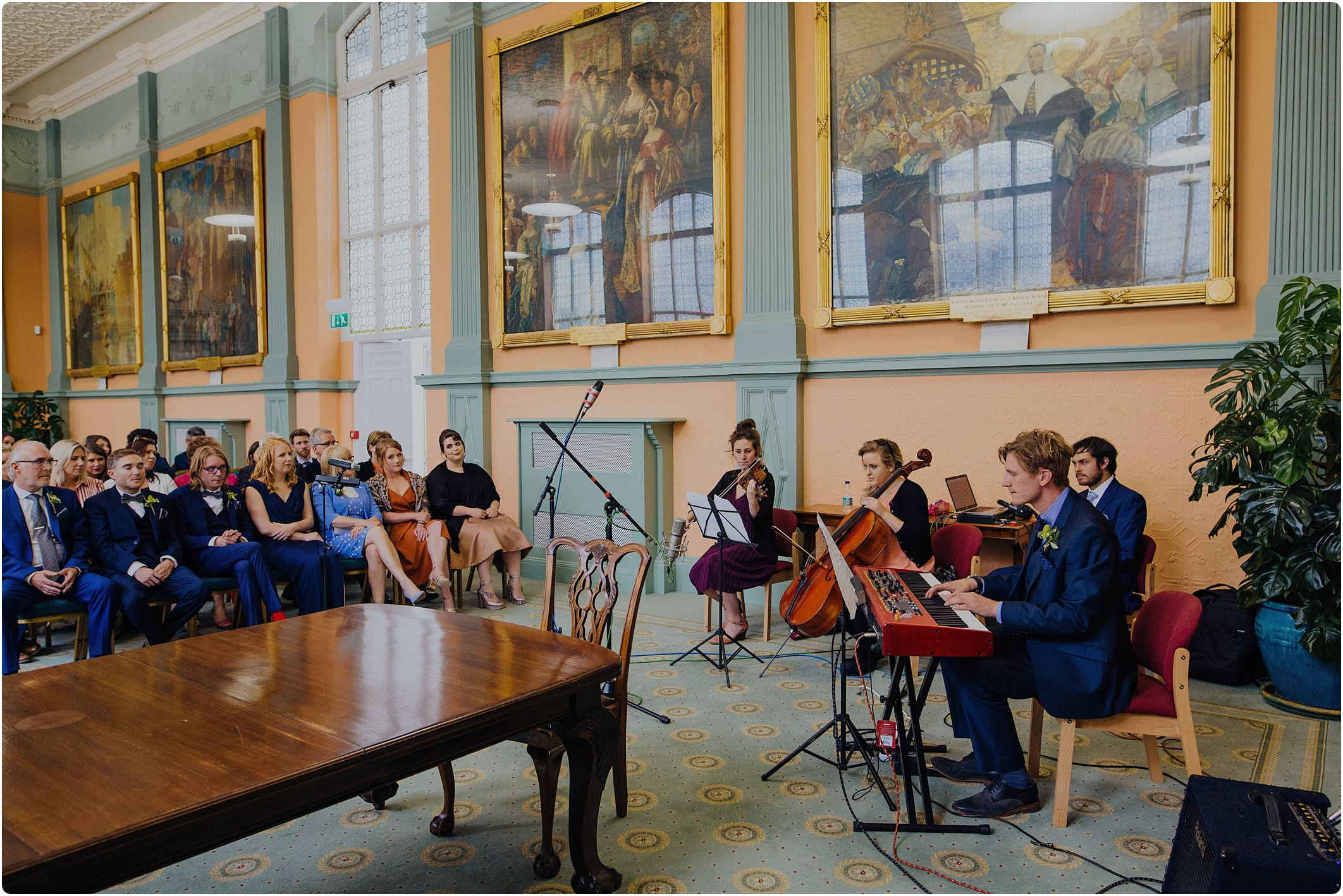 music wedding at City Hall in Bristol