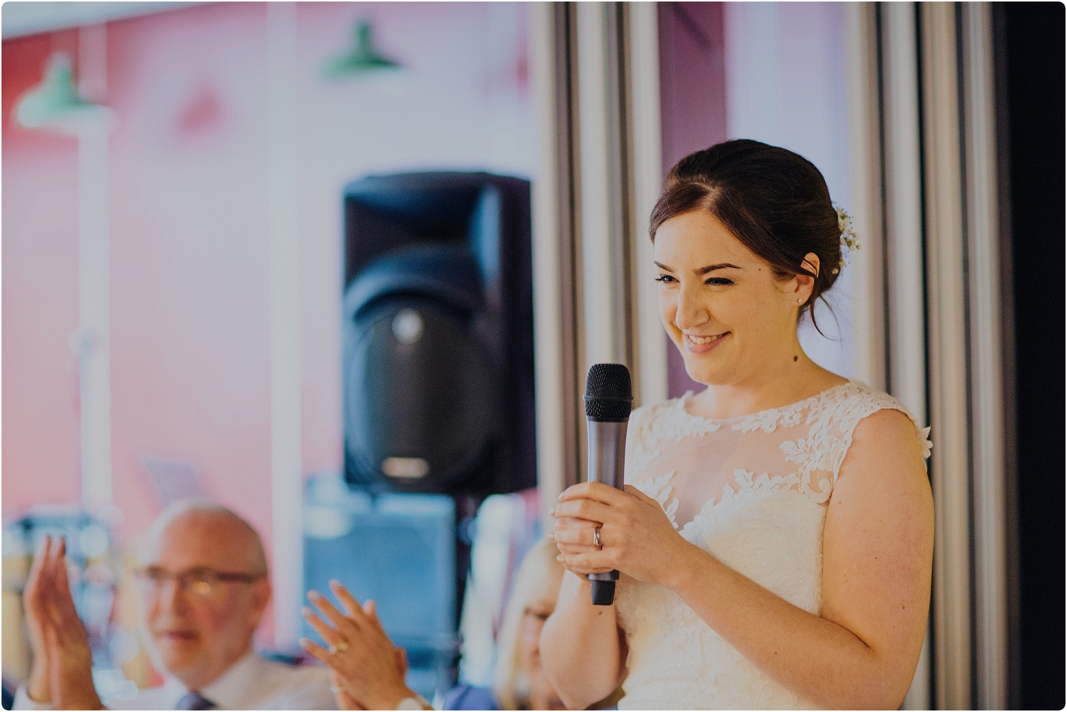 brides speech at a Station Kitchen Wedding