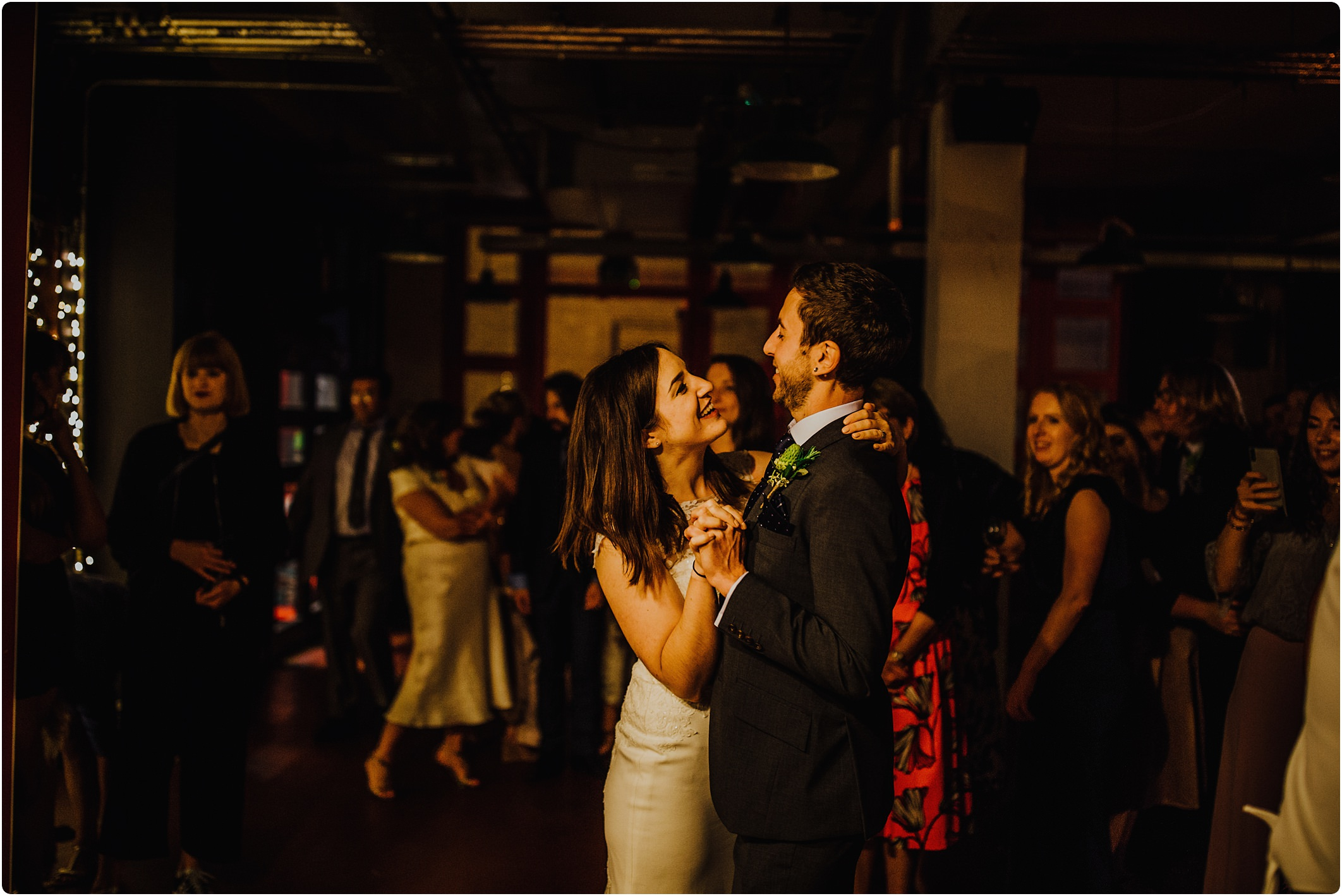 first dance at a Station Kitchen Wedding