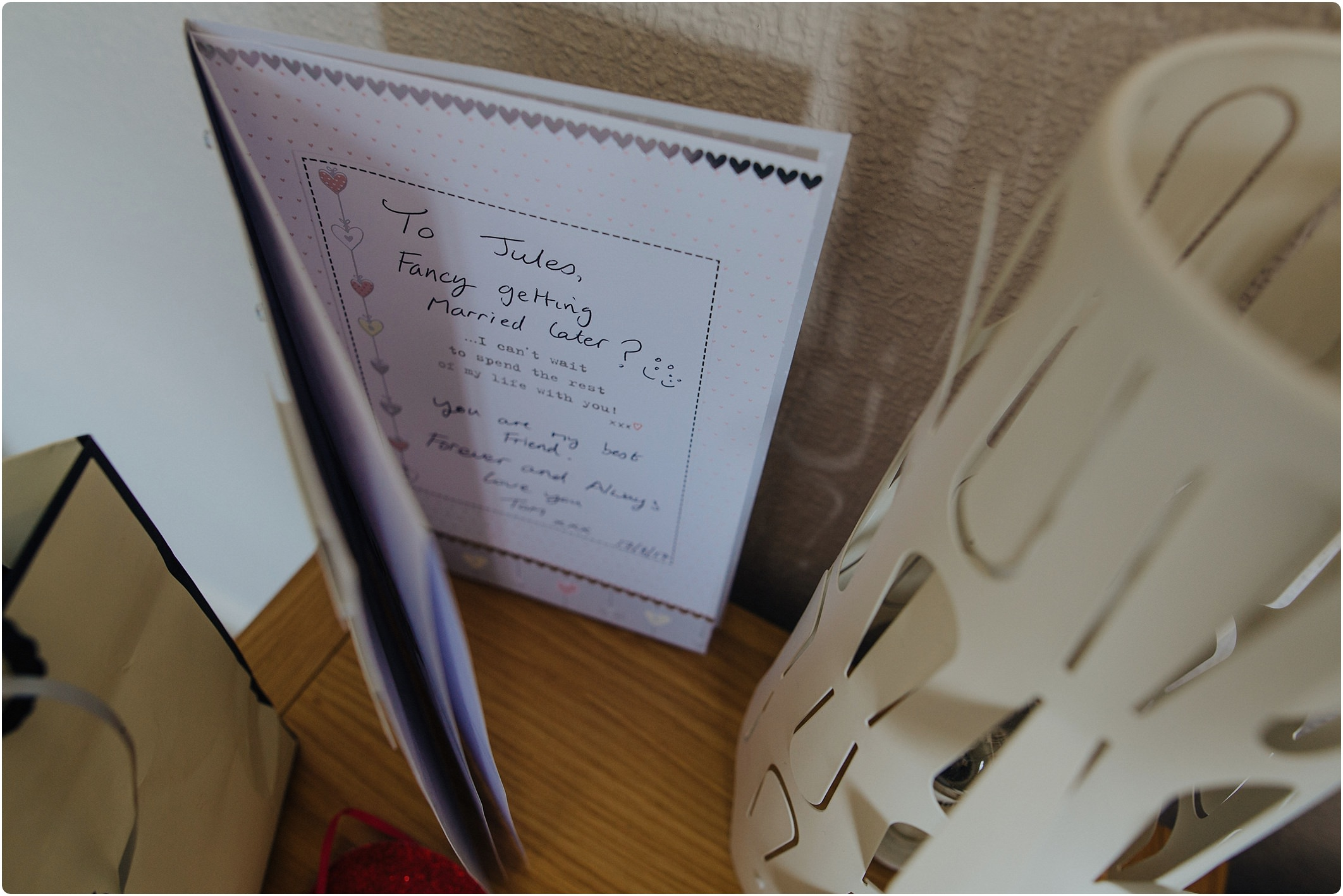 card from groom at woolacombe bay apartments