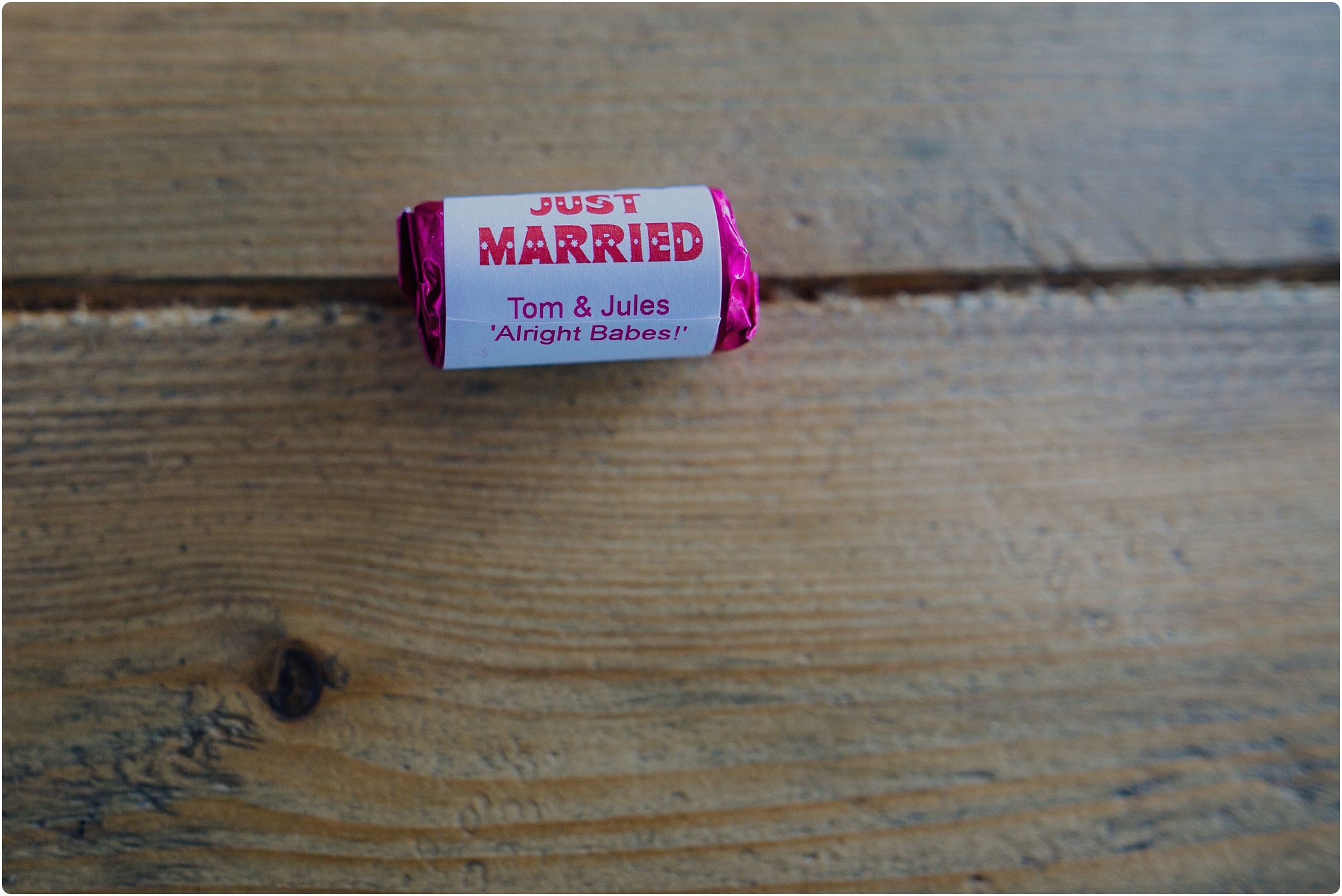 personalised love hearts at a tunnels beach wedding