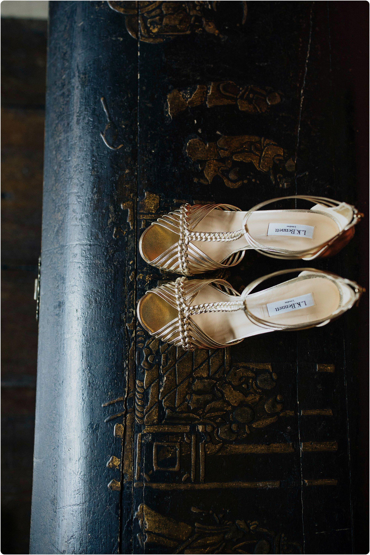 lk Bennet shoes at an Elmore Court Indian Wedding