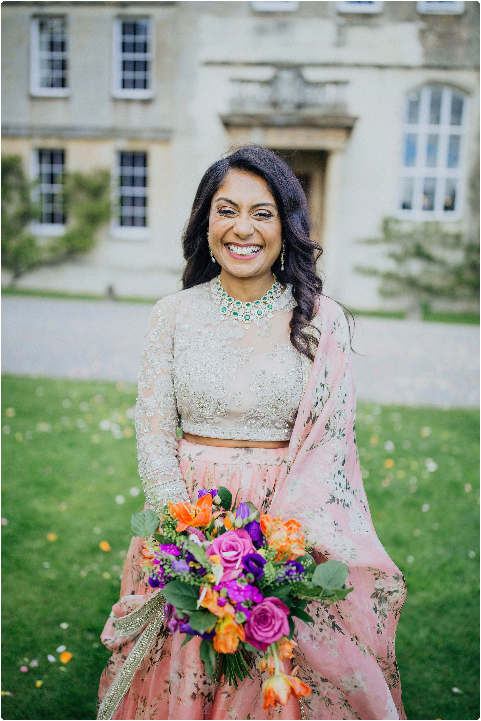 beautiful bride portrait at an Elmore Court Indian Wedding
