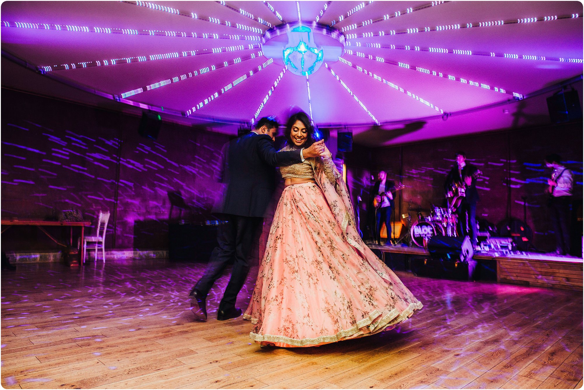 first dance at an Elmore Court Indian Wedding