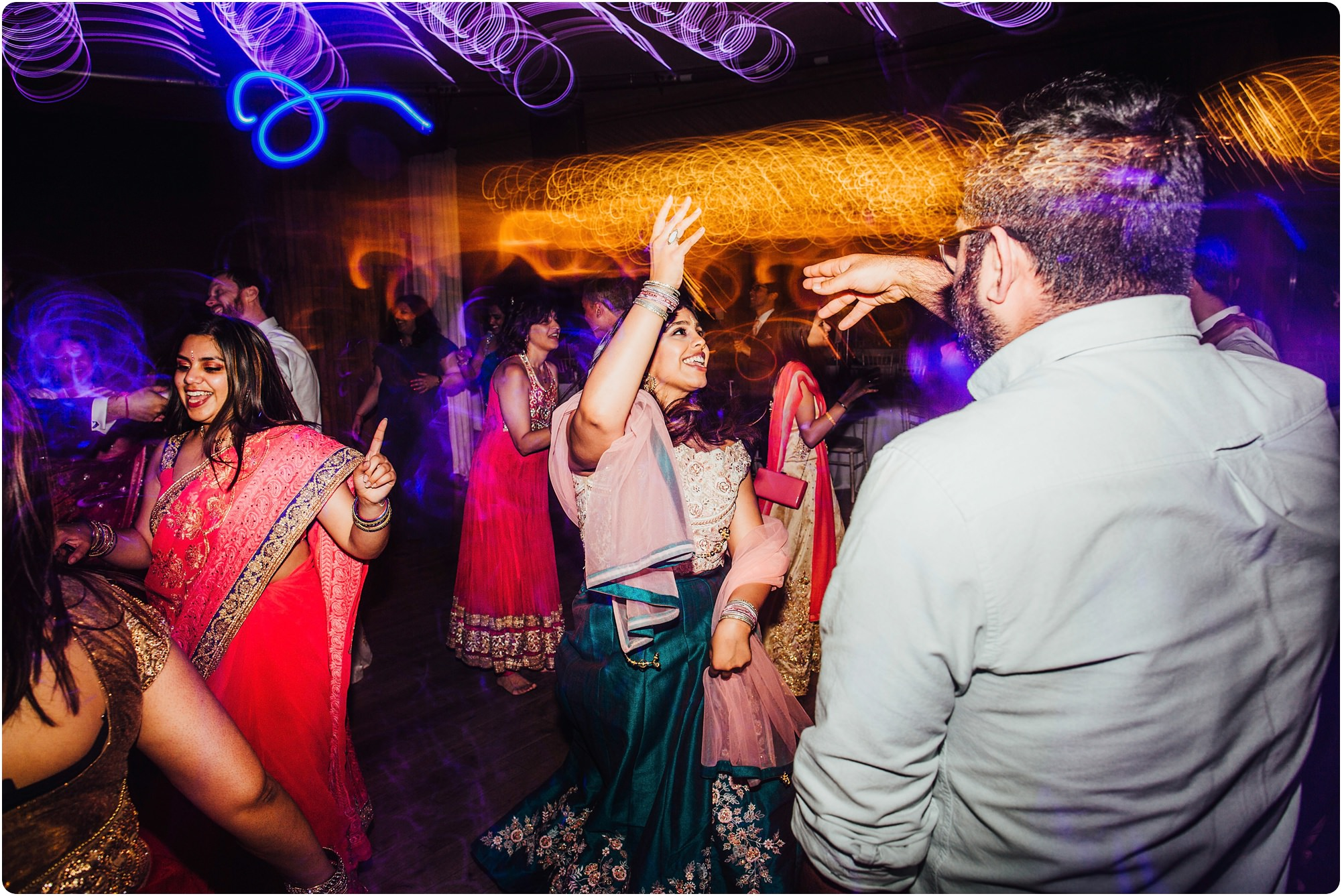 Indian dancing at an Elmore Court Wedding