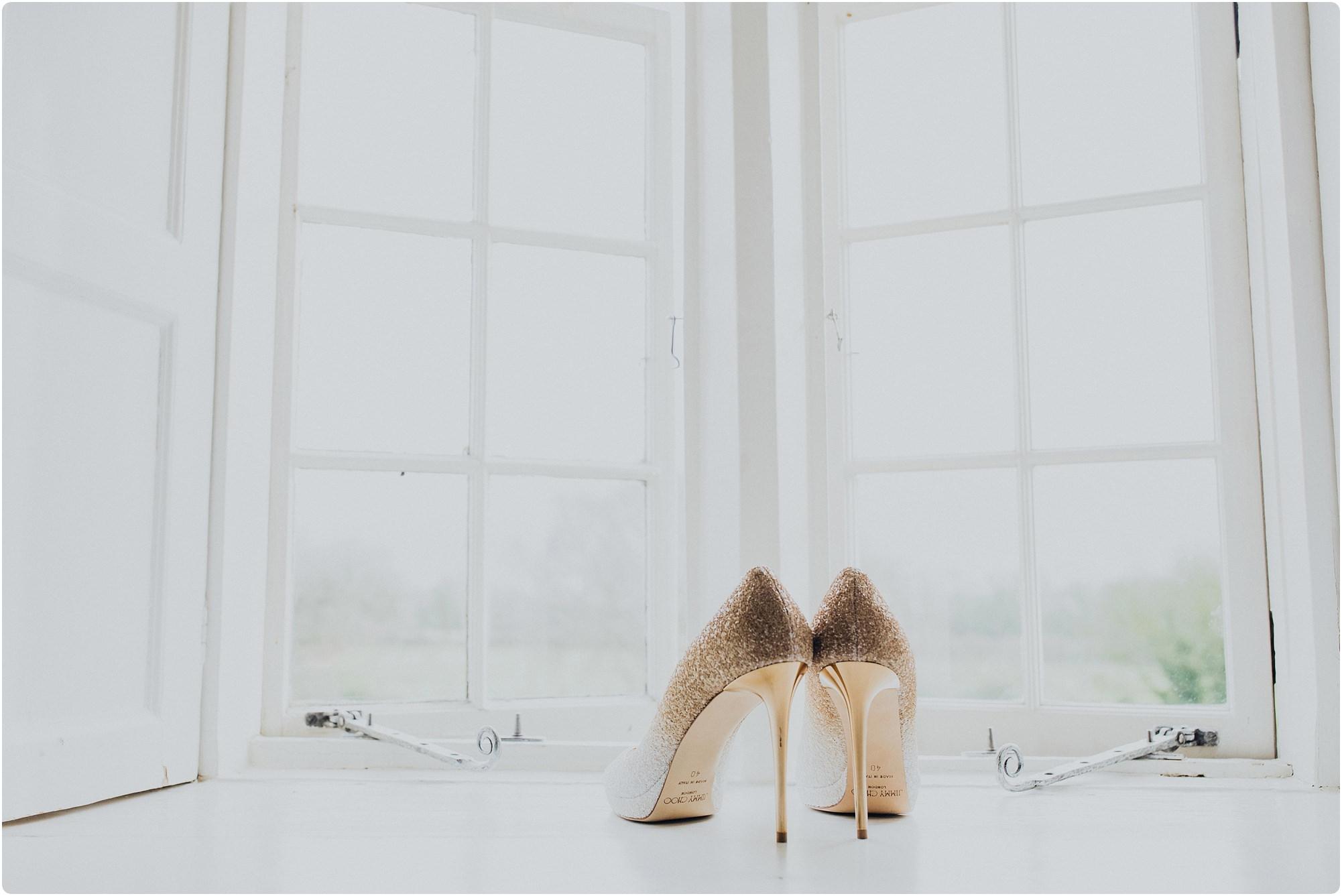 Gold heeled Jimmy Choos
