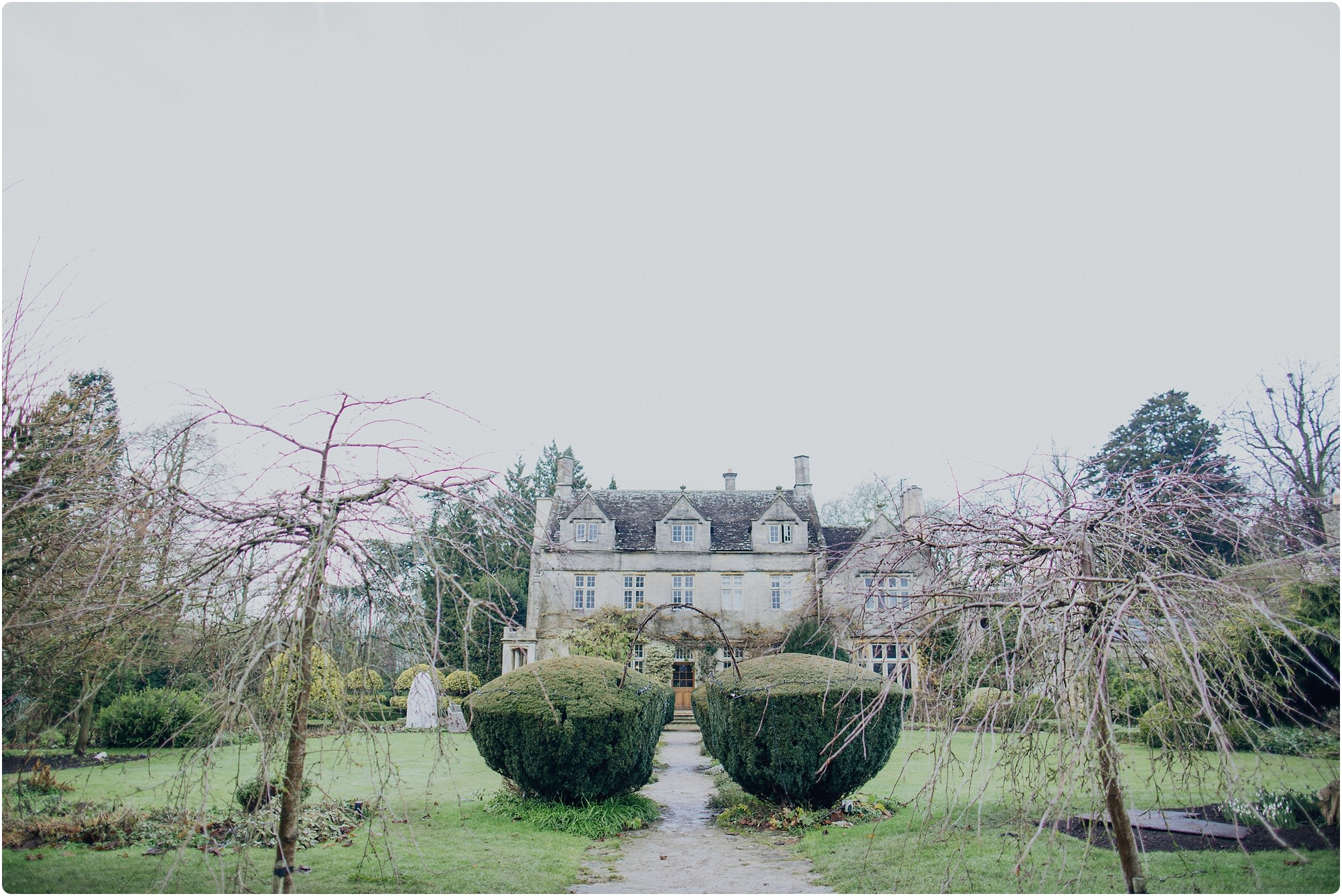 Barnsley house from the gardens