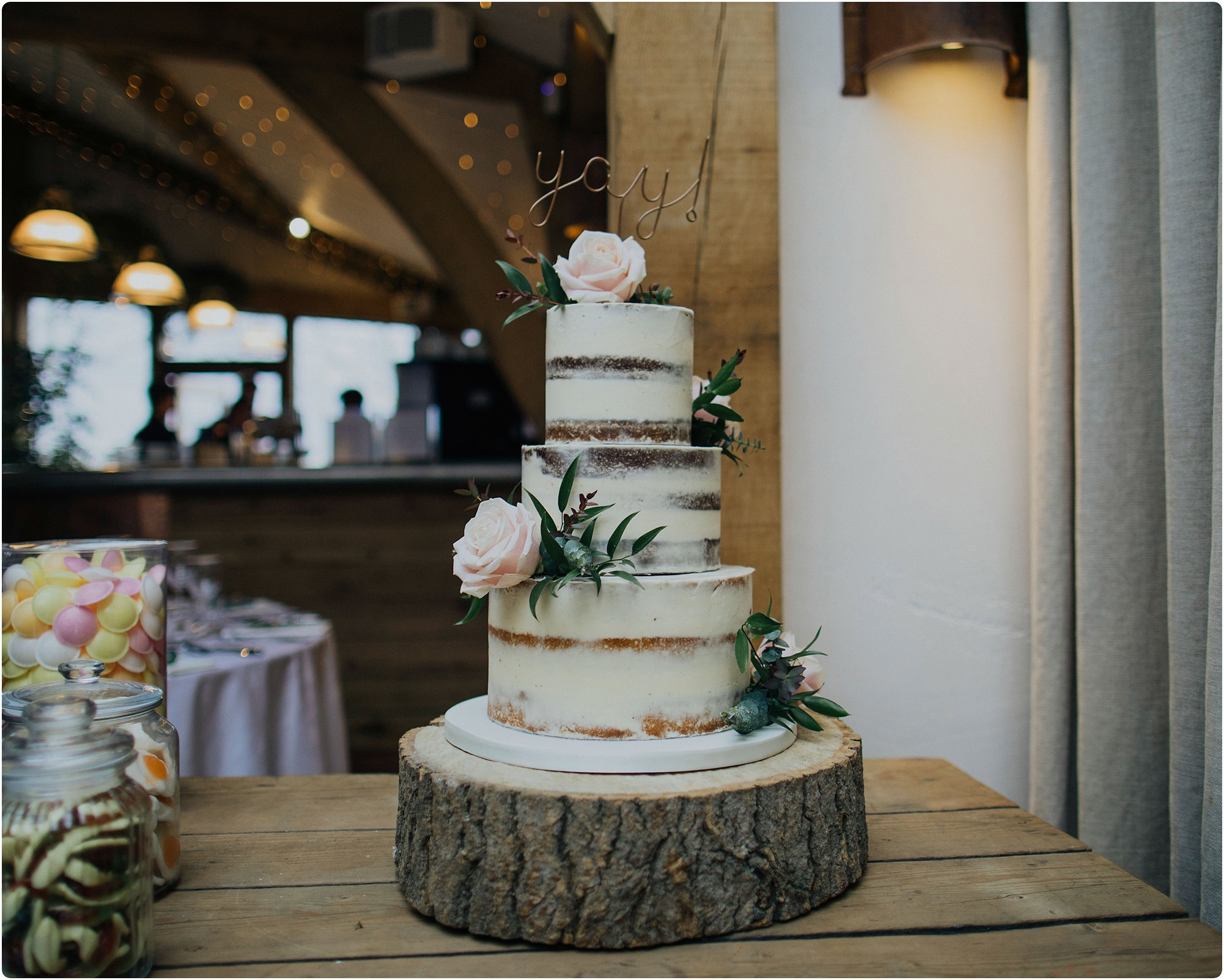 cake by Hannah Hickman at a a Cripps Barn Winter Wedding