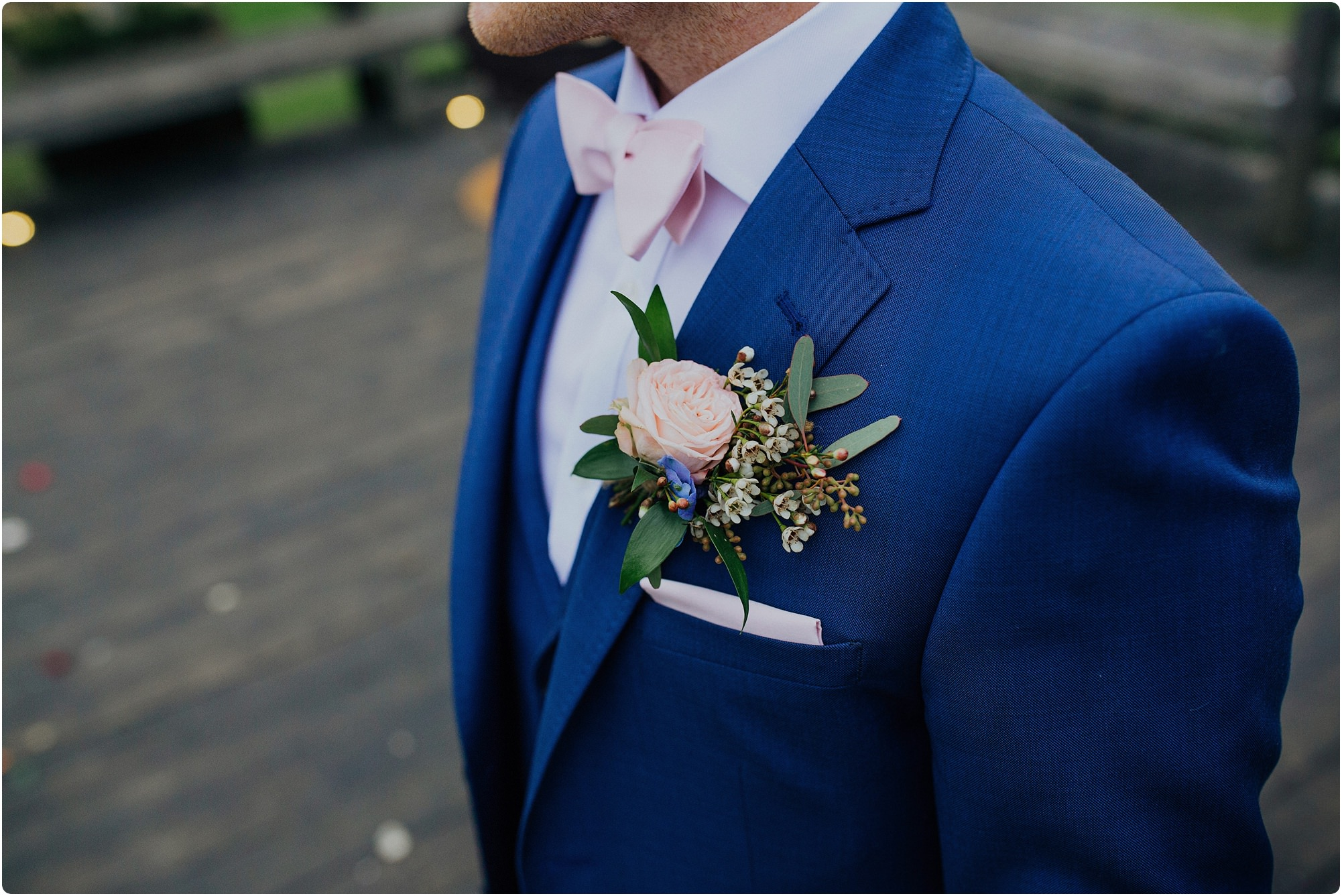button hole by go wild flowers at a Cripps Barn Winter Wedding