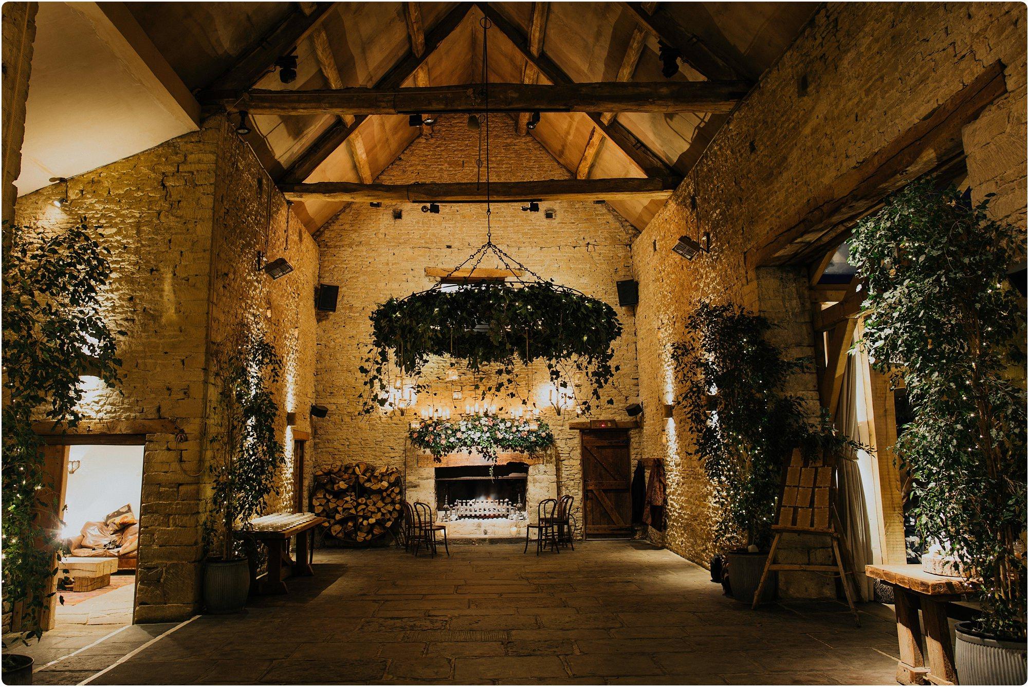 view of main hall at a Cripps Barn Winter Wedding