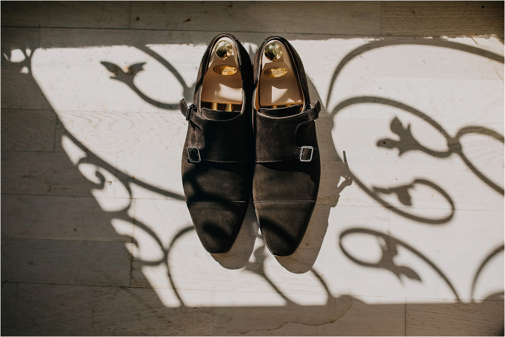 brogues at a chateau la durantie wedding