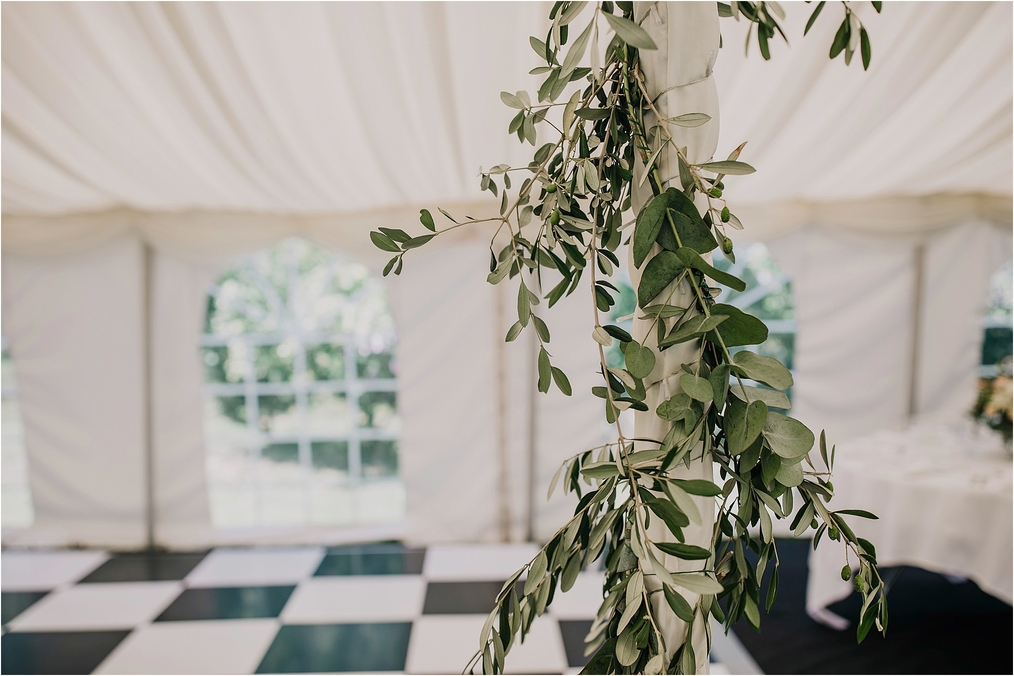 olive decoration at a chateau la durantie marque wedding