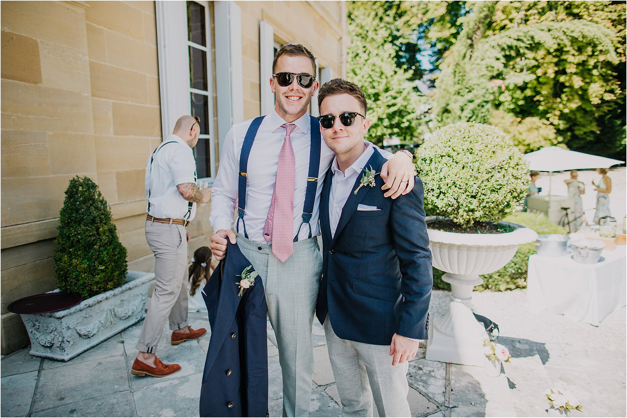 best man and groom at a chateau la durantie wedding