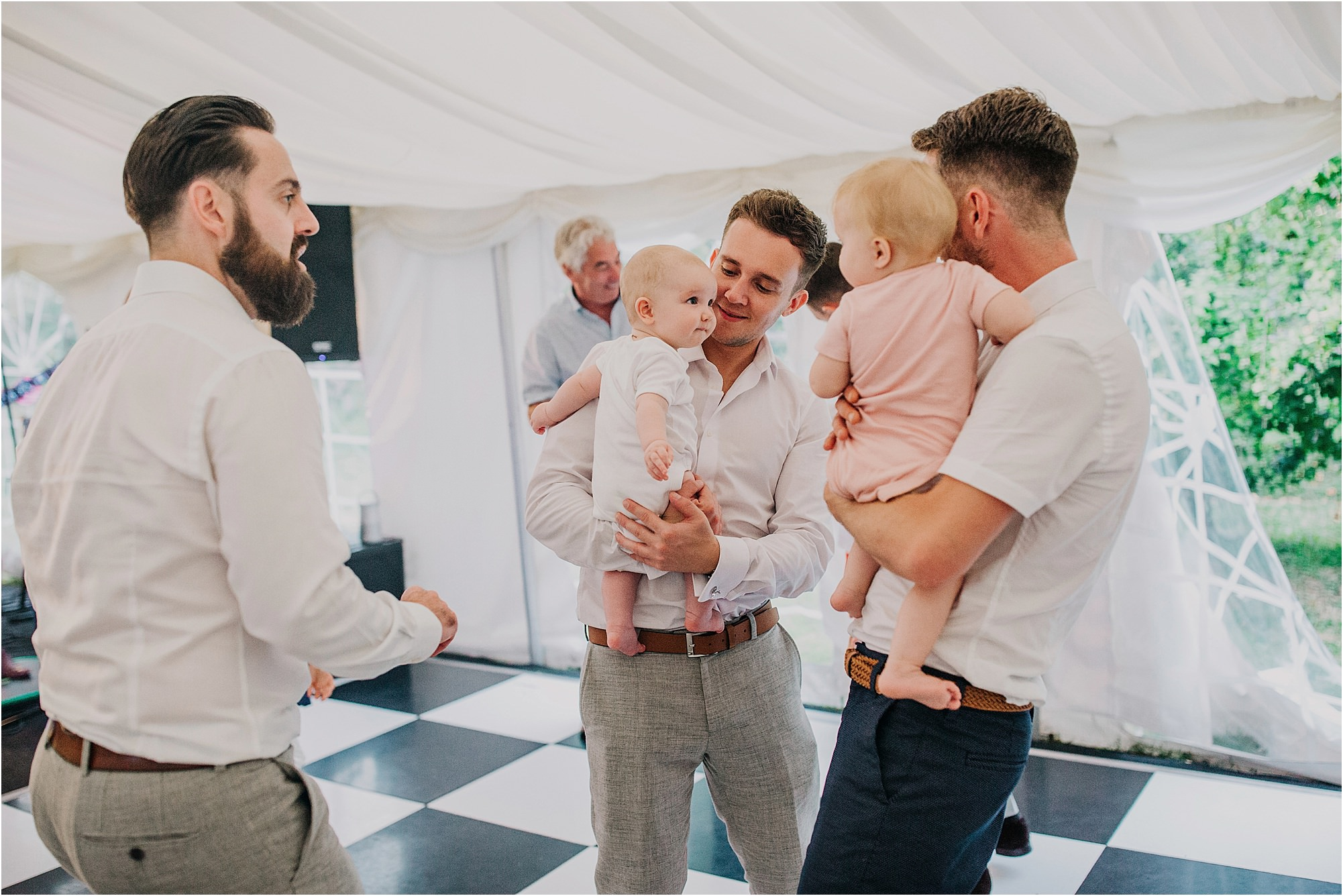 babies on the dance floor at chateau la durantie wedding