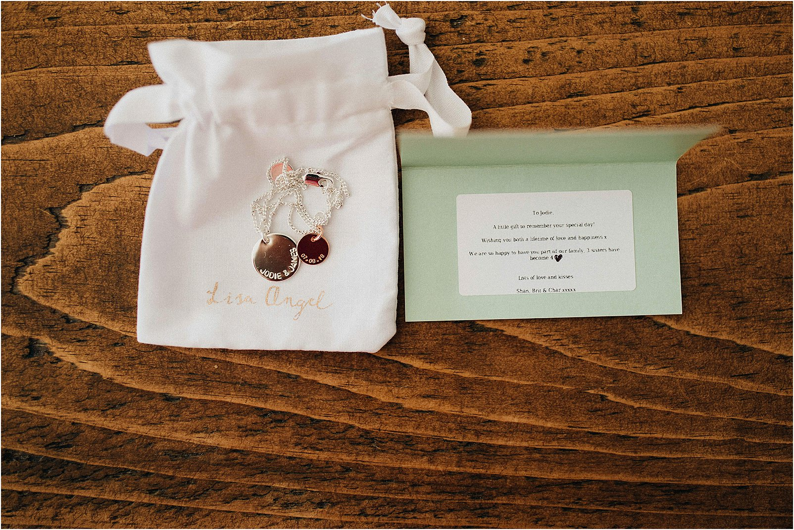 personalised bracelet for wedding gift