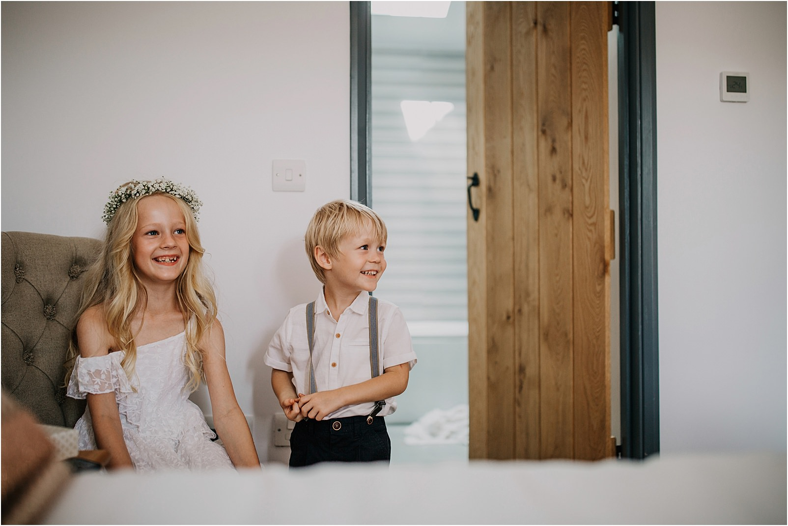 Paige boy and bridesmaid at Spring Cottage