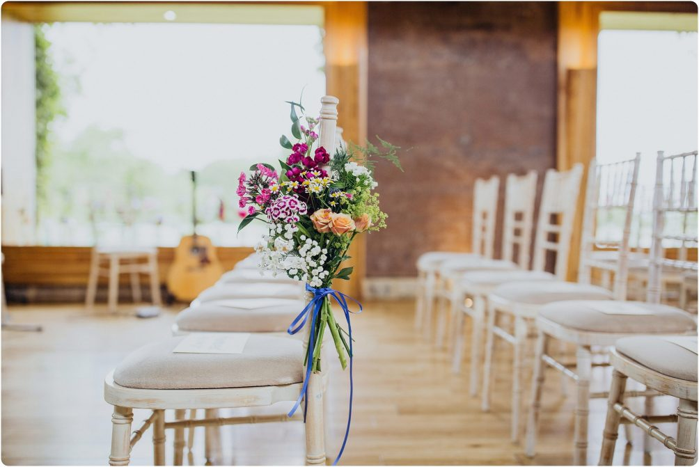 spring meadow flowers at a Elmore Court wedding