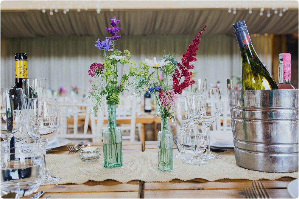 gillyflower wedding set up at a Elmore Court wedding