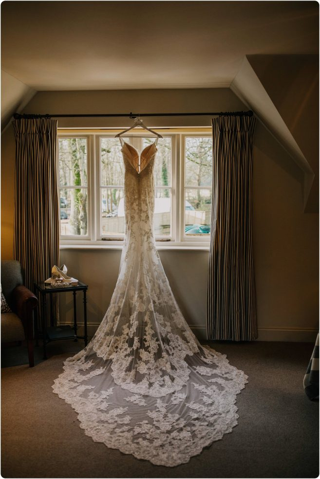 enzoani dress hanging