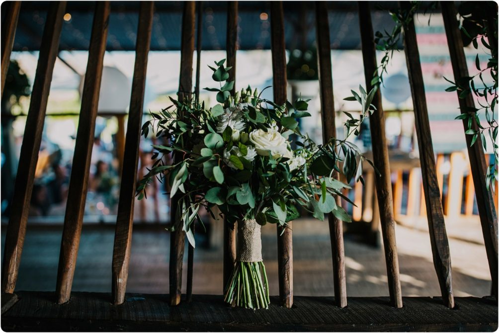 go wild flower bouquet at a Stone Barn wedding