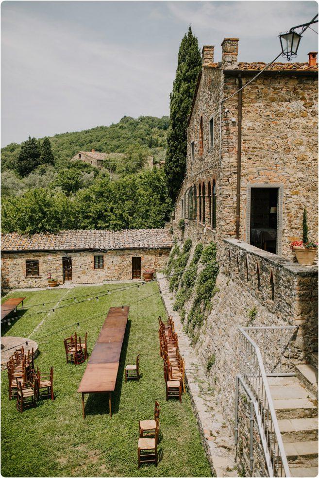 montelucci wedding set up