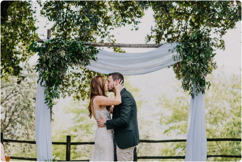 first kiss montelucci outdoor ceremony