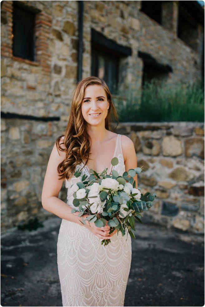 bride shot at montelucci wedding