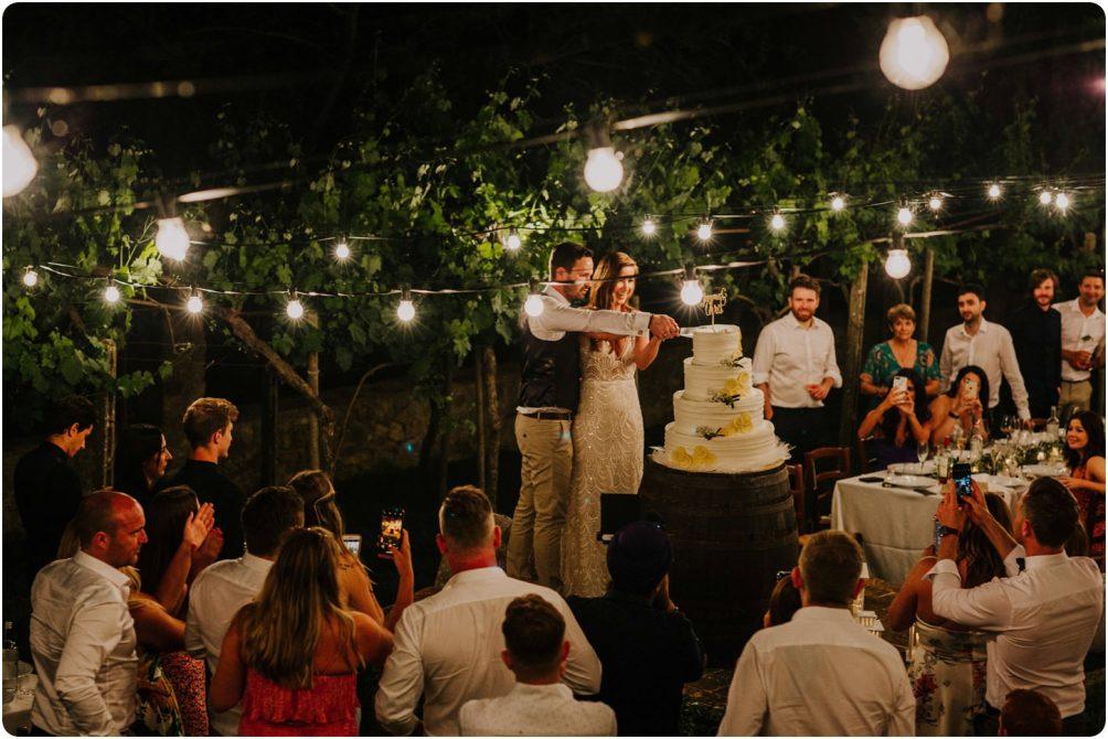 cake cutting italian wedding