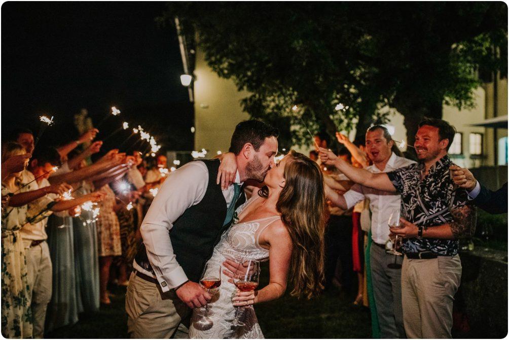 sparklers at montelucci wedding